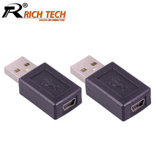 10pcs/lot USB2.0 Type A Male to 5 PIN MINI USB Female Connector USB AM to MINI USB Coupler Adapter M/F Converter Wholesales(China)