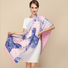 2016 New 100% Silk Scarf Shawl Pashmina Cover-ups Shanghai Story Brand scarf For Winter and Autumn 18 colors Available