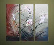 Free Shipping !!! The Daffodil,  Modern Flower  Oil Painting  Wall Art  ,Top Home Decoration JYJATH079