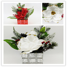 Artificial Flower PE Christmas Bonsai For Wedding Day Christmas Day Home Decoration Background Flower Wall Festival Photo Galler(China)