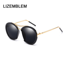 2018 LIZEMBLEM Steampunk Vintage Round Sunglasses Women Brand Designer Men Cool Metal Eyewear Gradient Oculos De Sol 2741 Gozluk(China)