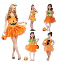 2016 Hot Fancy Masquerade party bat cosplay dress Vampire costume Halloween evening party  Pumpkin Dress Parent child clothing