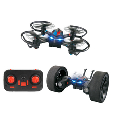 LiDiRc L18 2.4GHz 4CH Gyro Drones Quadrotor DIY Deformable Stunt Car Wireless Remote Control Helicopter RC Drone Toy for Gift