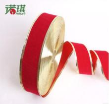 "2""(50mm) Gold edge Single face Grosgrain ribbon enfeites de natal Ribbon Festivals ribbon for Christmas decoration Free shipping"