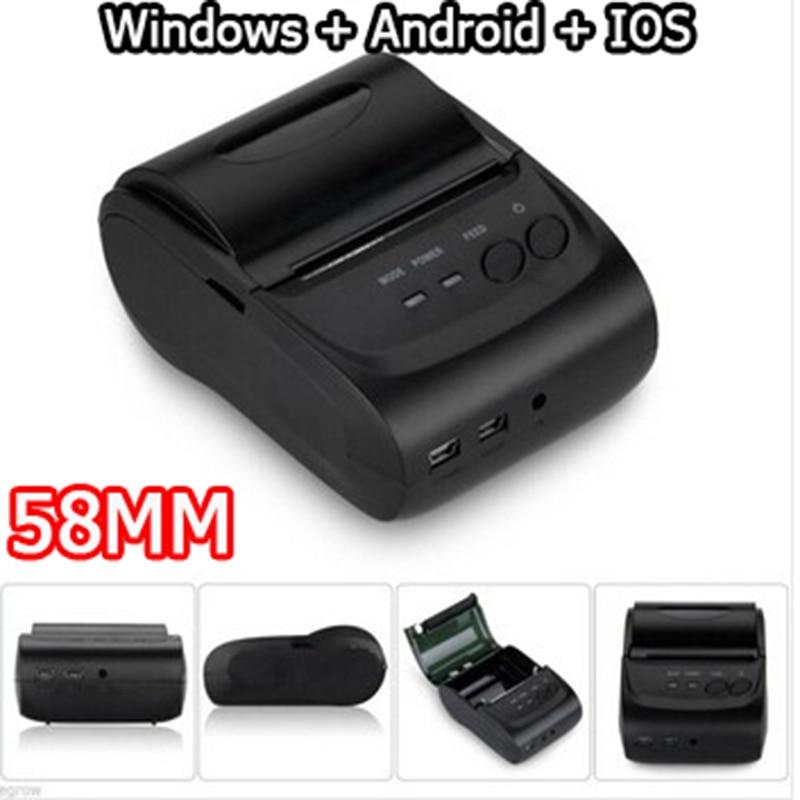 58mm Mobile Mini Portable Thermal Receipt Printer Android Windows IOS Bluetooth 2.0 Printer Handheld Pos Printers impressora<br><br>Aliexpress
