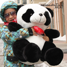 stuffed animal 75 cm panda plush toy i love you red heart panda doll throw pillow gift w3501(China)
