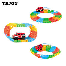 1 Set Diecast DIY Puzzle Toy Roller Coaster Track Electronics Rail Car Action Figures Toys Boy Girl Birthday Gifts For Children