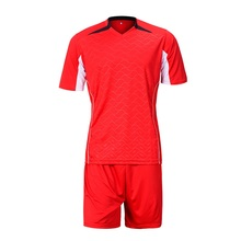 New football suit men's football training suit short sleeve light board, football jerseys stamp number custom made(China)
