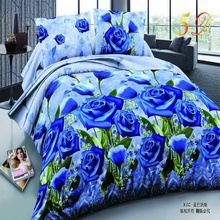 Home textiles,New Sunflower 3D 4pcs Bedding Sets, Duvet/Comforter Cover Bed Sheet Bedclothes,Cotton/Polyester,King Size(China)