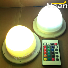 2pcs DHL Shipping Factory LED furniture rgb remote control wireless led lights for high table chair(China)