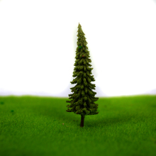 6.5cm artificial Plastic 100Pcs/Set Architecture  ABS plastic  mini scale model trees for railroad model train layout