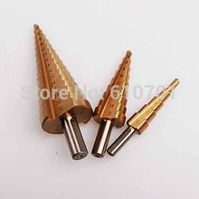 Two Flute Step Cone Drill Bit 4-12/20/32MM HSS For Metal Wood Holes Cutter(China)
