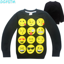 New Autumn Kids Sweatshirt Emoji Children's Hoodies Kids Clothes Tracksuit Boys T-Shirt Baby Girls Clothing Child Casual Costume(China)