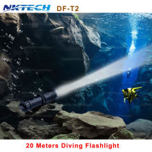 NKTECH flashlight app Portable 5000LM CREE XM-L2 LED Waterproof Torch Flashlight Light Scuba 100M Underwater Diving Flashlights(China)
