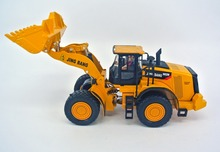 jing bang 1:50 loader Children's toy car forklift alloy bulldozer excavator simulation model loading truck car(China)