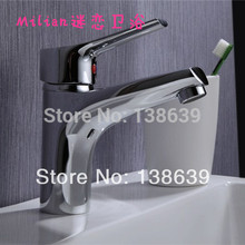 free shpping Mixer Tap Single Lever Faucet Bathroom Lavatory and characteristic Sink basin square faucet,discount product