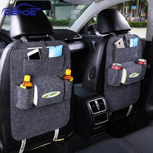 car-styling seat storage bag Hanging bags car seat back bag Car product Multifunction vehicle car storage box freeshipping(China)