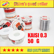 Kaisi soldering iron solder wire of low temperature high purity tin tin article 0.3 50 g line free shipping(China)