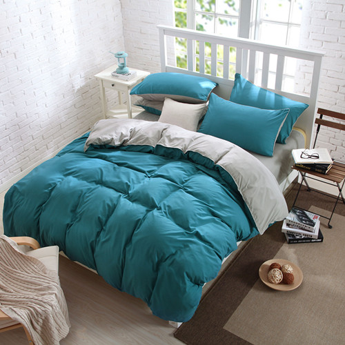 pure color bedding set, King queen size bed line/bedclothes+colourful 4 colors bedding(China (Mainland))
