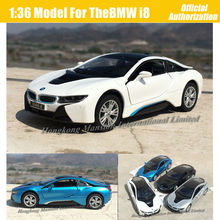1:36 Scale For TheBMW i8 Diecast Metal Alloy Super Sports Car Model Collection Model Pull Back Toys(China)