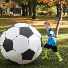 75CM 130CM Inflatable Soccer Volleyball For Boys Children Outdoor Sport Beach Toys Adult Garden Party Supply Kids Giant Football(China)
