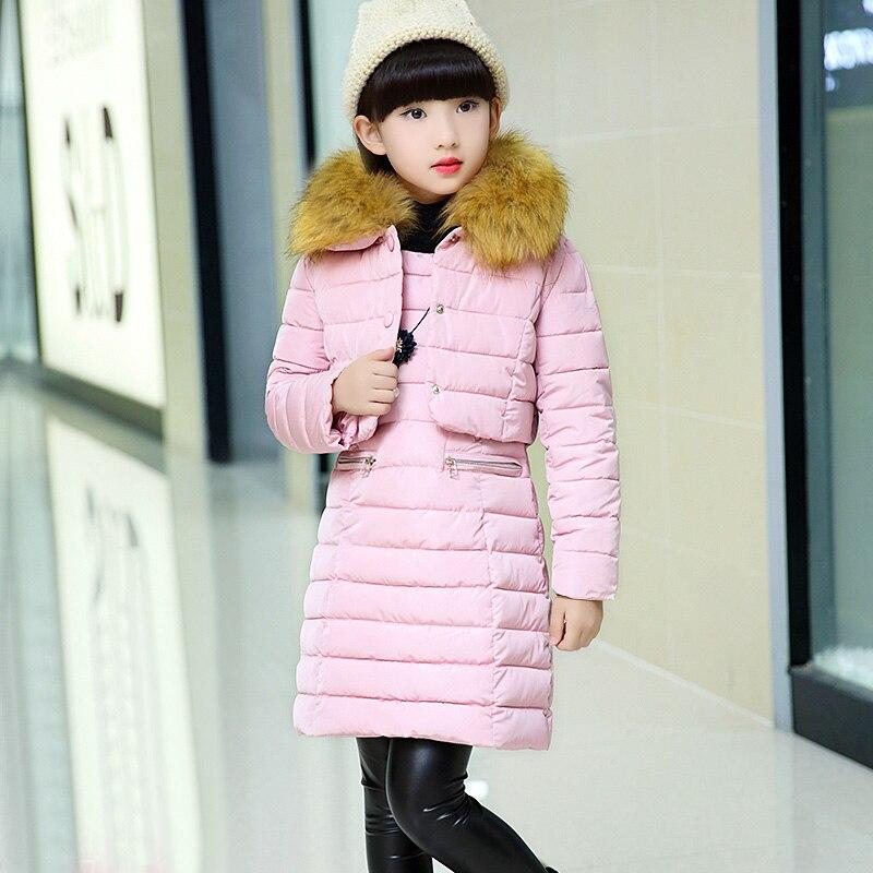 Winter Children Clothing 2pcs Sets Kids Girls Clothes Pink Full Sleeves Warm Coat Vest Dresses Suits Kid Girl Costumes 5cs219<br>