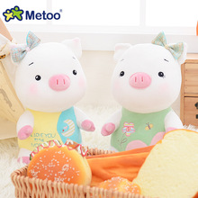 New Arrival Baby Cartoon Pig Toys Kids Soft Stuffed Sleeping Dolls Lovely Mini Colorful Toys Girls Boys Newborn Gift Metoo(China)