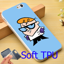 Dexter Cartoon Network Soft TPU Phone Case for iPhone 7 6 6S Plus 4 4S 5C 5 SE 5S Cover