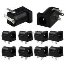 10Pcs 5.5 x 2.1mm DC Power Supply Socket Female Jack Plug Port Connector Black -S018 High Quality