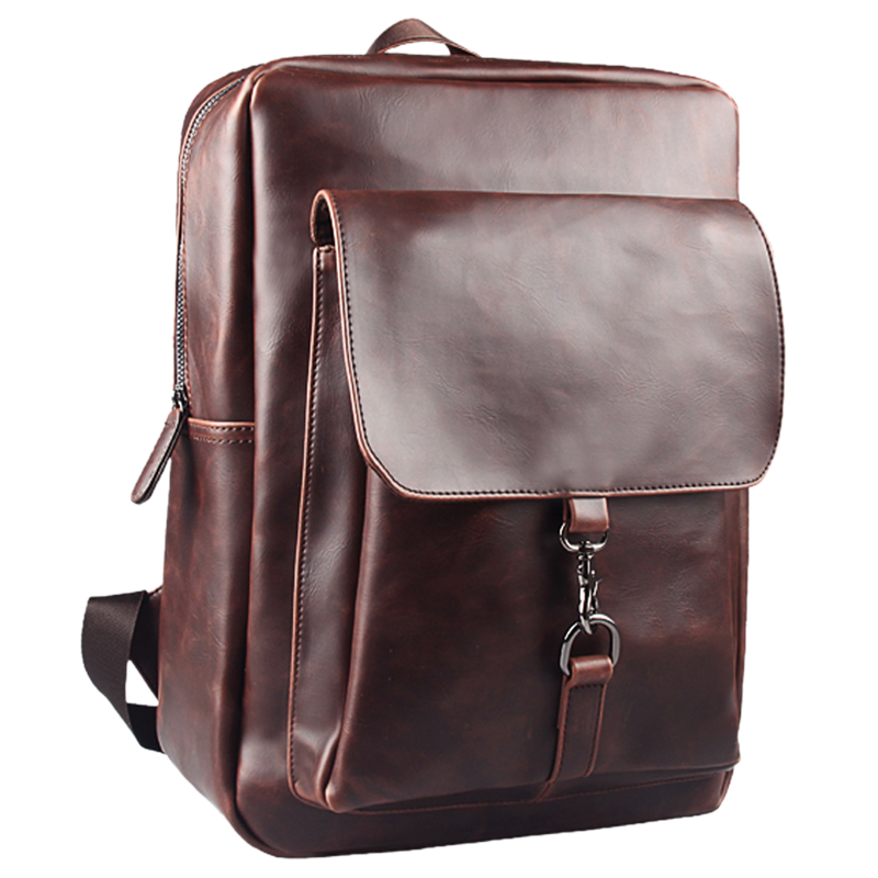 LEVELIVE High Quality Crazy Horse Leather Backpacks Men Travel Bag Vintage Mens School Bags Leather Laptop Backpack Male Mochila<br>