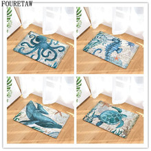 Creative Retro Sea Animal Turtle Whale Cuttlefish Hippocampus Living Room Bedroom Table Parlor Rug Anit-slip Home Floor Carpet