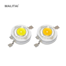 100Pcs/lot 1W High Power LED lamp 110-120LM Emitting Diodes SMD LEDs Bulb light Chip for 3W - 18W Downlight Spotlight