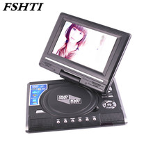 9.8 Inch Portable DVD Player Digital Multimedia Player U Drive Play with FM TV Game Card Read Function VCD DVCD MP4 MP5(China)