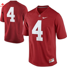 Alabama Crimson Tide T.J Yeldon 4 College Limited Ice Hockey Jerseys - Red Size M,L,XL,2XL,3XL(China)