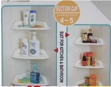 1pcs Strong chuck bathroom shelves wearing a single  (21 * 21 * 7 cm) bathroom storage shelf to receive 150 g