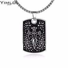 New store 316L Stainless Steel pendant necklace compass high quality fashion chain unisex jewelry GMYN070(China)