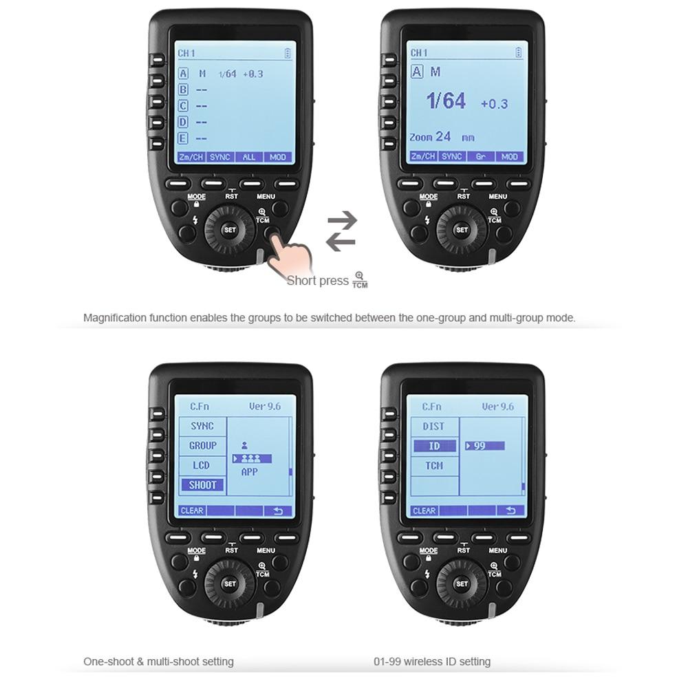 Godox Xpro-O 2.4G wireless X system TTL HSS Camera Flash Transmitter (44)