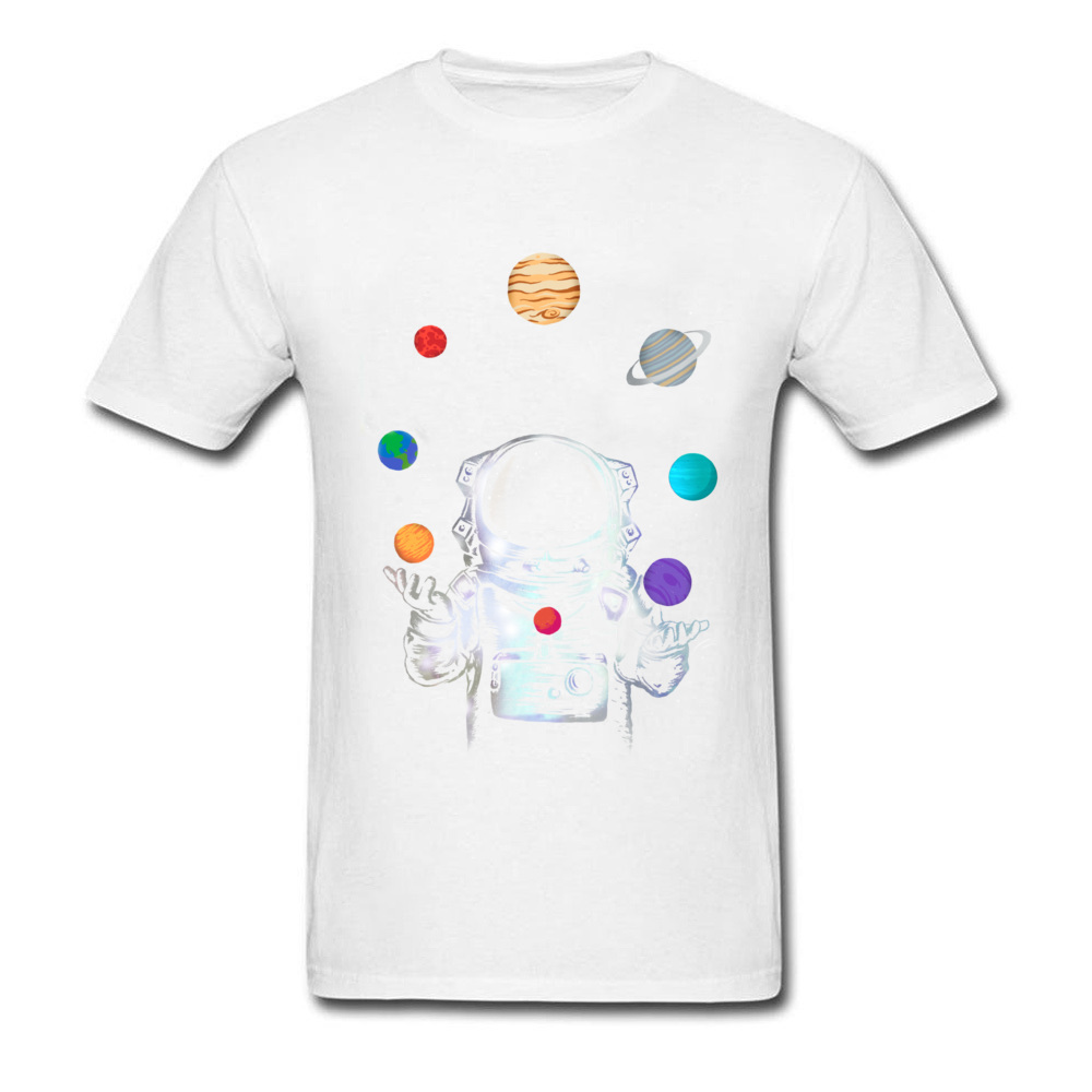 Space Circus Crazy Labor Day 100% Cotton Round Neck Male Tops & Tees Party T-shirts Plain Short Sleeve Tshirts Space Circus white