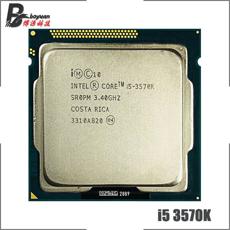 Intel Core i5-3570K  i5 3570K 3.4 GHz Quad-Core CPU Processor 6M 77W LGA 1155 title=