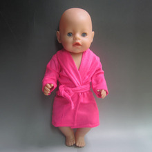 fits 45 cm Zapf Baby Born Rose red bathrobe Clothes for dolls Accessories