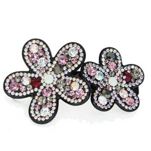 Retail Hair Jewelry Acetate Cellulose flowers Rhinstone Hair Clip Supplier for Women's Hair Accessories gifts Free Shipping(China)