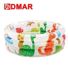 "DMAR 61cm 24"" Inflatable Pool Bathtub for Kids Infants Baby Dinosaur Pool Float Toys Swimming Ring Pool Children Gift Baby(China)"