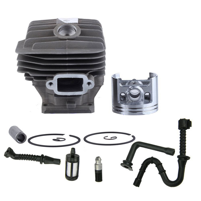 Cylinder Piston Ring kit with Fuel Oil Line Filter for STIHL 046 MS460 Chainsaw 1128 120 1217<br>