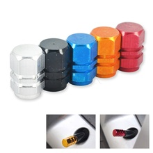 Hot Newest car-covers Aluminum Auto Bicycle Car Tire Valve Caps Car Hexagonal Ventile Rims Airtight rims Accessories For Car(China)
