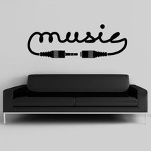 New Creative Music Vinyl Wall Decal Music Song Sound Notes Melody Jazz Rap Hip Hop Bedroom Art Wall Sticker Home Decoration