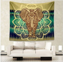 210*150cm8 Style Indian Elephant Mandala Tapestry Hippie Wall Tapestry Beach Sun Care Carpet Gypsy Bed Sheets Home Decoration