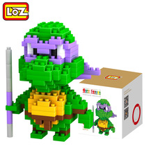 LOZ Single Sale Mini Donatello Cute Turtles Movie Dolls Diamond Bricks Educational Building Blocks Toys Children 9148 - LOZs Block Store store