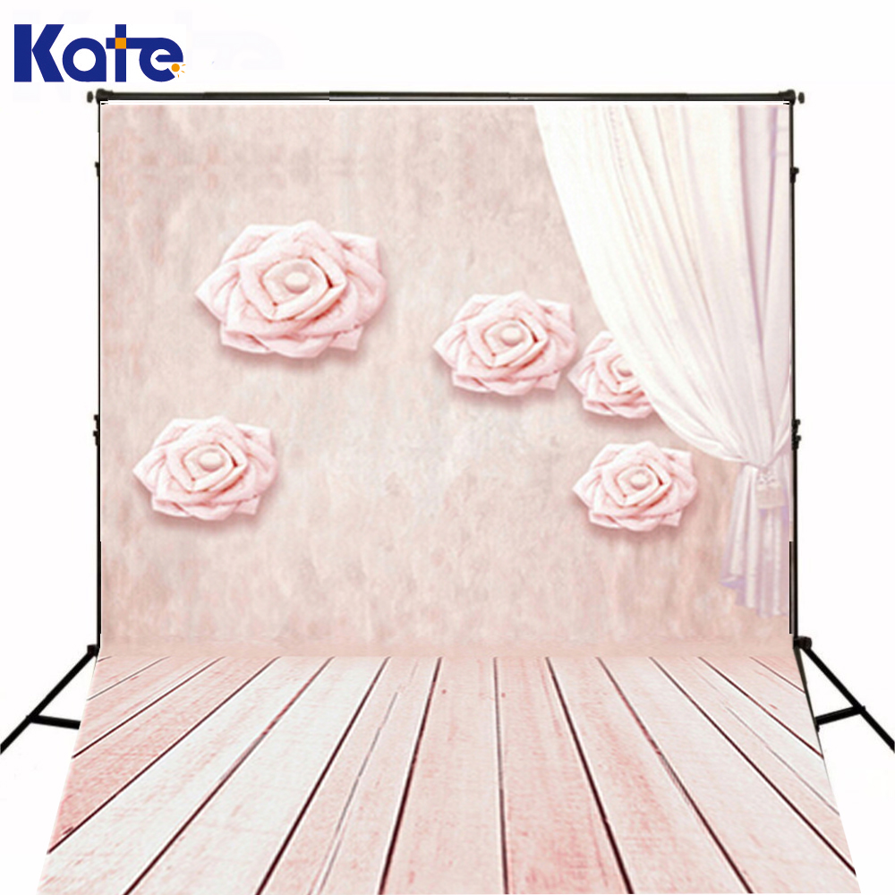 5*7Ft Newborn Photographic Background Baby Photography Backdrops Children Pink Background Romantic And Fresh Cute For Baby<br>