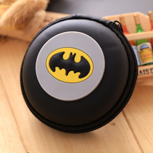 Kawaii Candy Batman Wallet Silicone Small Pouch Cute Coin Purse Key Rubber Wallets Gift Children Mini Anime Case Storage Bags