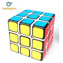 LeadingStar New Funs 3 Order Speed Cube Puzzle 3 RD Black Based Sticker on Primary Body zk40(China)